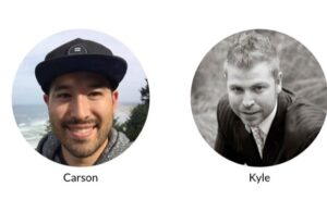 This image shows the owners of wealthy affiliate Kyle and Carson