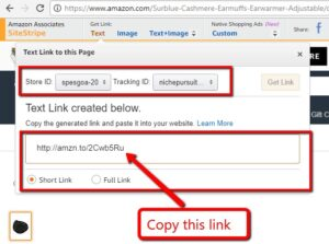 image showing an affiliate link