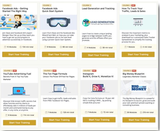 This is the legendary marketer club that gives you access to various courses
