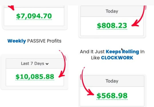 Fake income claims on the JackedATM sales page