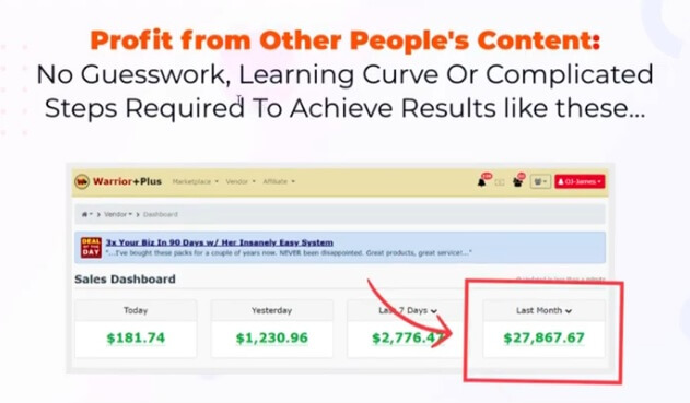 this image shows a KontentXpress fake income proof on the sales page