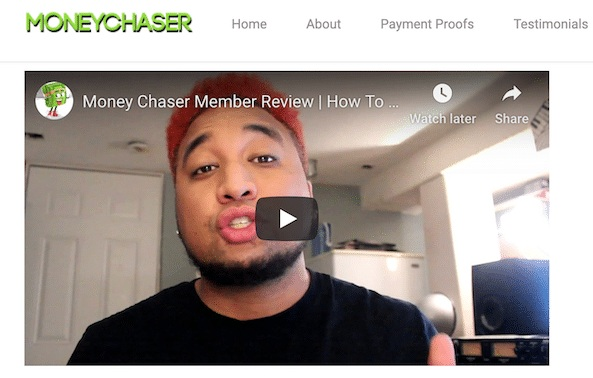 MoneyChase.Co paid actor from Fiverr