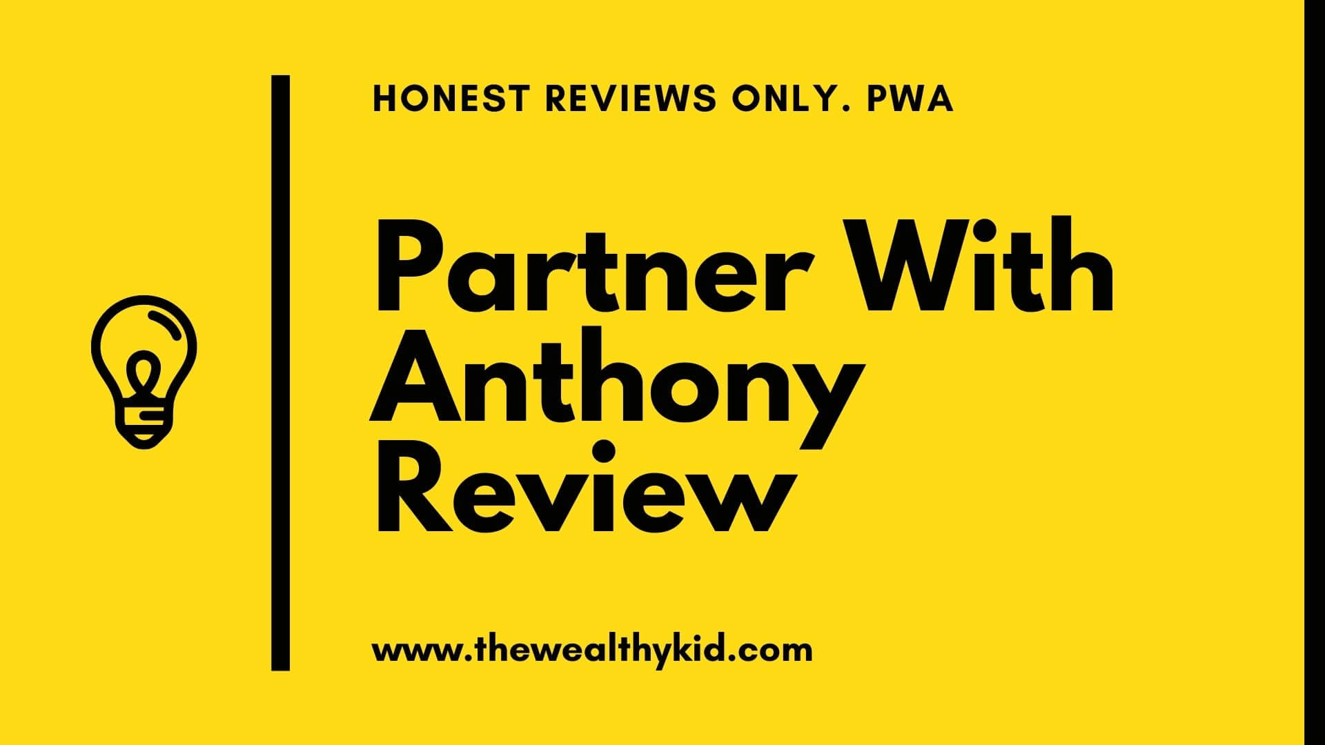 What is Partner with Anthony about?