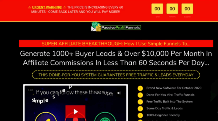 Passive Profit Funnels over hyped sales page
