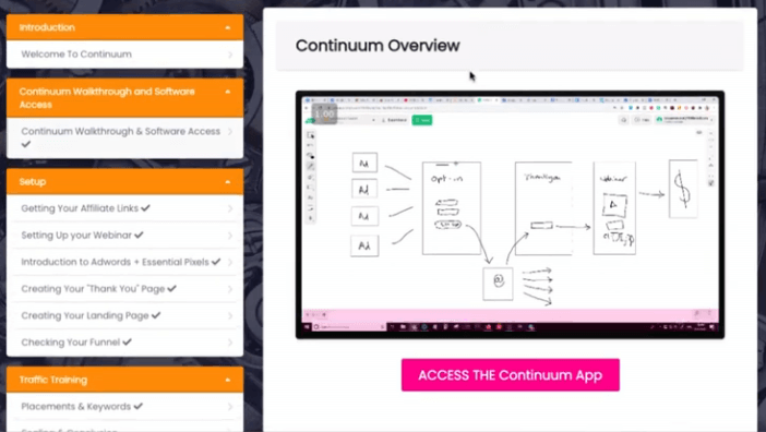 This image is about the Continuum Software dashboard