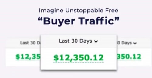 A picture of Fake income claims on the Proven software sales page