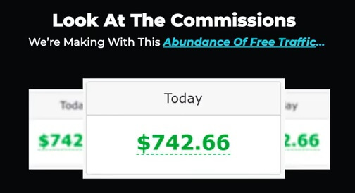 this image shows an income proof from the Rezolved sales page showing an amount of $742.66