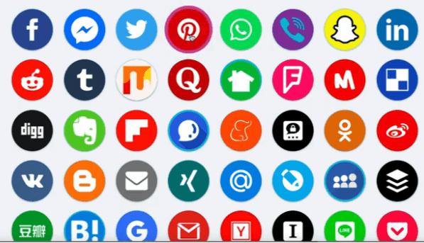 A List of Various social media