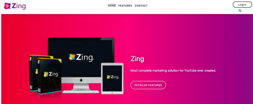 Image showing Zing front page