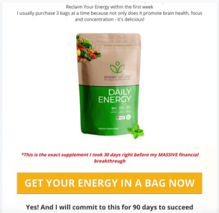 A daily energy supplement